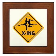 Figure Skate X-ing Framed Tile