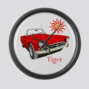 The Red Tiger Large Wall Clock