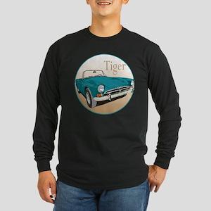 The Blue Tiger Long Sleeve Dark T-Shirt
