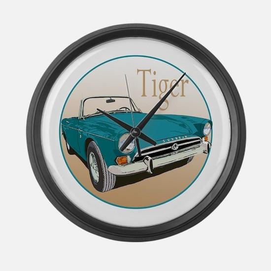 Cute Sports car racing Large Wall Clock