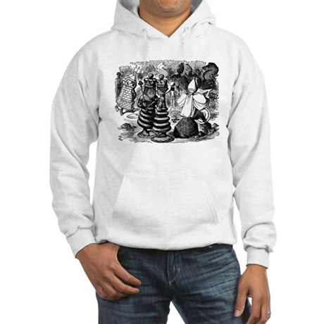 Alice's Chess Pieces Hooded Sweatshirt