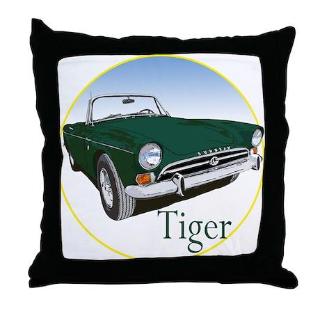 The Green Tiger Throw Pillow