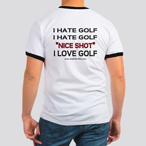 I Hate Golf Ringer T
