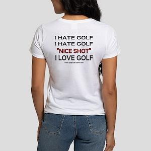I Hate Golf Women's T-Shirt