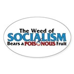 The Wead of Socialism Oval Sticker