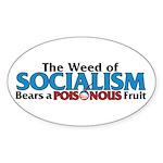 The Wead of Socialism Oval Sticker