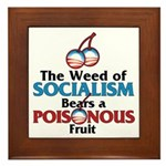 The Wead of Socialism Framed Tile