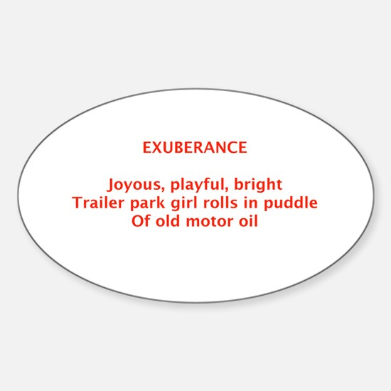 EXUBERANCE Oval Decal