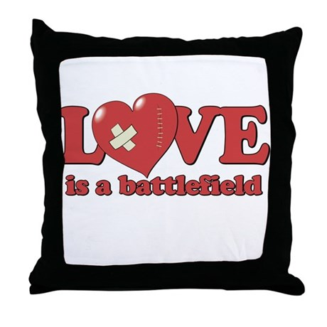 Love is a Battlefield Throw Pillow