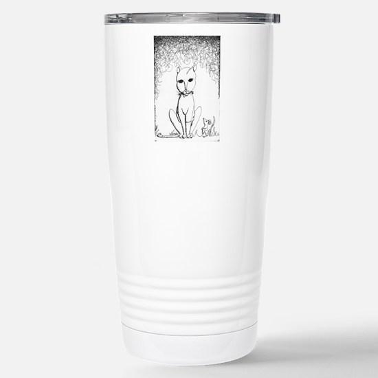 Franken-Kitty Stainless Steel Travel Mug