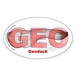 Geoduck Oval Sticker