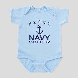 Navy Sister Infant Bodysuit