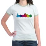 Rainbow DEAFIE Jr. Ringer T-Shirt