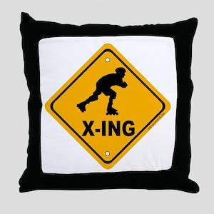 Roller Blade X-ing Throw Pillow