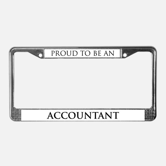 Proud Accountant License Plate Frame