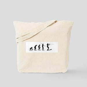 Water Ski Evolution Tote Bag