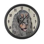 Gordon Setter Large Wall Clock