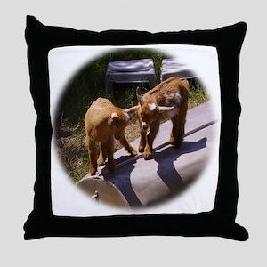 Curious Kids Throw Pillow