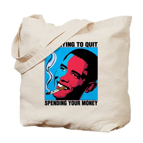 Obama Trying To Quit Tote Bag