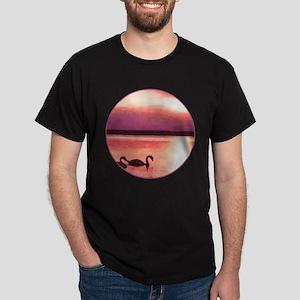 The swans at sunset Dark T-Shirt