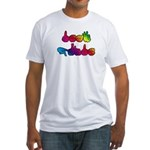 Rainbow DEAF PRIDE Fitted T-Shirt