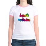 Rainbow DEAF PRIDE Jr. Ringer T-Shirt