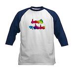 Rainbow DEAF PRIDE Kids Baseball Jersey