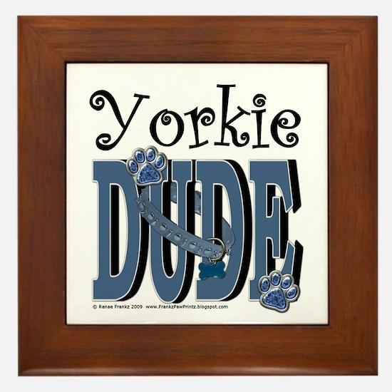 Yorkie Dude Framed Tile