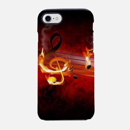 Hot Music Notes iPhone 7 Tough Case