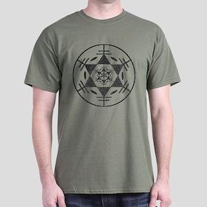 Disc Golf Sketch Charcoal ori Dark T-Shirt