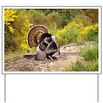 Wild Turkey Gobbler Yard Sign