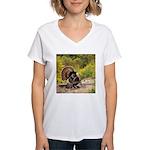 Wild Turkey Gobbler Women's V-Neck T-Shirt