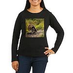Wild Turkey Gobbl Women's Long Sleeve Dark T-Shirt