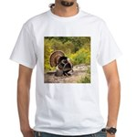 Wild Turkey Gobbler White T-Shirt