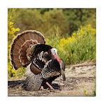 Wild Turkey Gobbler Tile Coaster