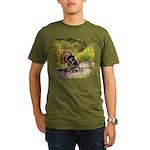 Wild Turkey Gobbler Organic Men's T-Shirt (dark)