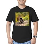 Wild Turkey Gobbler Men's Fitted T-Shirt (dark)