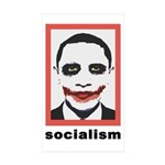 Obama Joker Socialism Rectangle Sticker 10 pk)