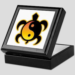 Gold Yin Yang Turtle Keepsake Box