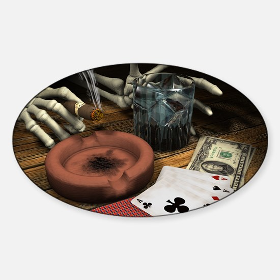 POKER HANDS! Oval Decal