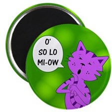 "Karaoke Kitty Cat 2.25"" Magnet (100 pack)"
