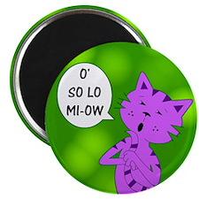 """Karaoke Kitty Cat 2.25"""" Magnet (10 pack)"""