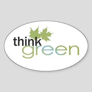 Think Green Oval Sticker