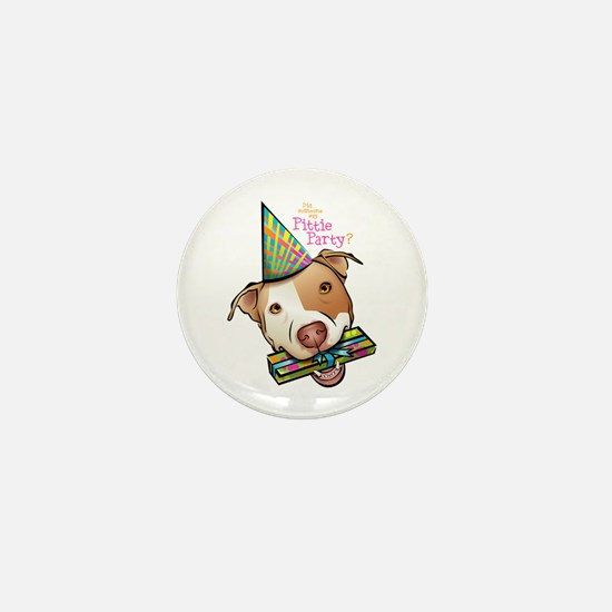 Pittie Party Mini Button