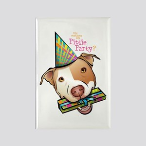 Pittie Party Rectangle Magnet