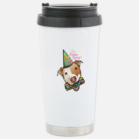 Pittie Party Stainless Steel Travel Mug