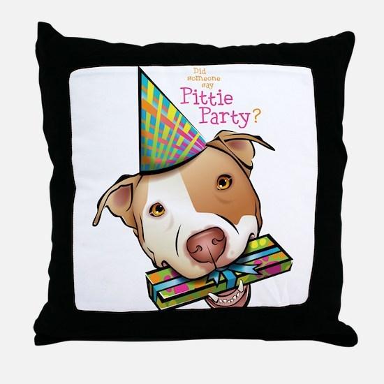 Pittie Party Throw Pillow