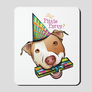 Pittie Party Mousepad