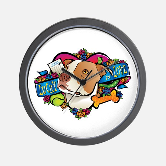 Lucky in Love Wall Clock