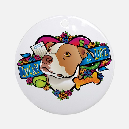 Lucky in Love Ornament (Round)